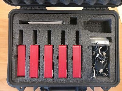 LOT OF 5 Quest Q-500 Noise Dosimeters with 5 Mics and CURRENT CALIBRATION