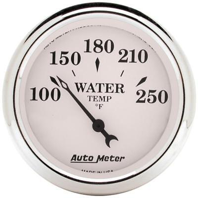 "Auto Meter 1638 Old-Tyme White 2-1/16"" Electric Water Temp Gauge, 100-250 °F"