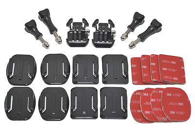 Flat Curved 3M Adhesive Sticky Mounts Pads Buckle & Screw For GoPro Hero Cameras