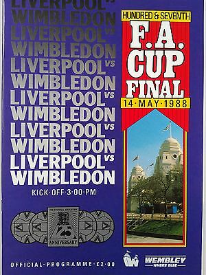 1988 FA Cup Final Liverpool v Wimbledon Mint condition