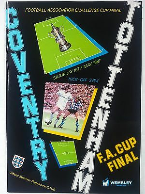 1987 FA Cup Final Coventry City v Tottenham Hotspur Mint condition