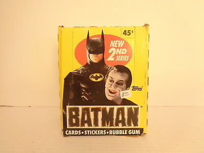 1989 Topps Batman 2nd Series 36 Sealed Trading Card Packs with Box and Poster