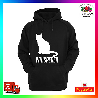 Cat Whisperer Hoodie Hoody Funny Cool Kitten Tom Top Training Pussy Xmas Show