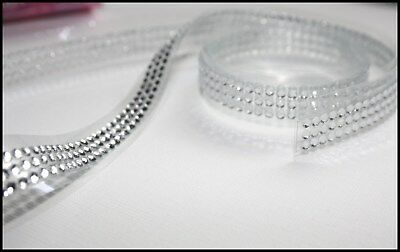Self Adhesive Diamante / Pearl Stick On Sparkly Jewels Crystals On A Roll