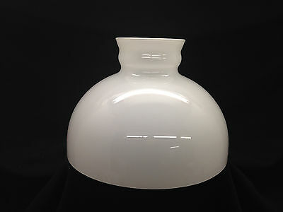 "Rare Large Antique White Cased Glass Rayo Lamp Shade 11.5"" Base  {232}"