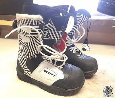 Scott Snow Mobile Boot X-Trax Tp Black And White Size 41 Nos