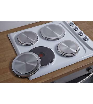 4Pc STAINLESS STEEL CHROME ELECTRIC COOKER HOB RING COVER LID SET
