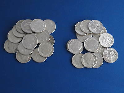 Roosevelt Dimes $3 face value - 30 dimes mixed dates 90% silver US Coins