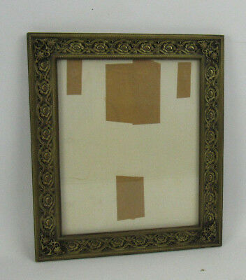 "Ornate Antique Vintage Brass Frame w/ Abstract Face Collage 10"" x 12"""