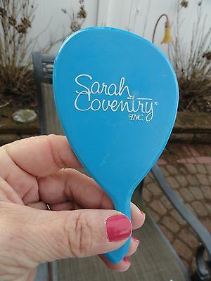 """Vintage Sarah Coventry Blue Hand Mirror RARE!  """"Handy Helpers"""" Sales Gift"""