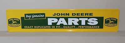 John Deere Parts Tractor Farm Equipment Large Vintage Style Embossed Sign