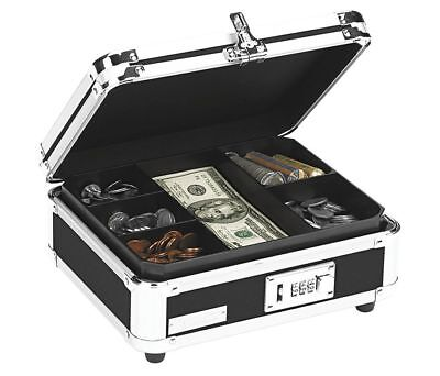 Vaultz VZ01002 Black Locking Cash Box