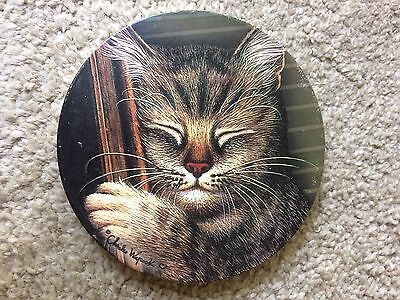 Sleeping Cat Kitty Beverage Drink Coaster Charles Wysocki
