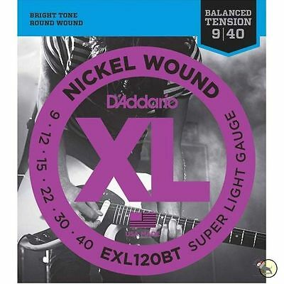2 Sets D'Addario EXL120BT Electric Guitar Strings 9-40 Balanced Tension