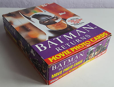 1991 Topps Batman Returns Movie Photo Cards, Boxed, 32 Of 36 Sealed Packets.