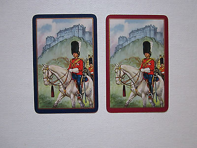 TWO SWAP CARDS - VINTAGE - ROYAL SCOTS GREYS - MILITARY - ART  - Unused