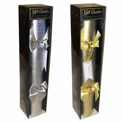 """Christmas """"Fill your Own"""" 32cm Gift Cracker with Tag - Choose Colour"""