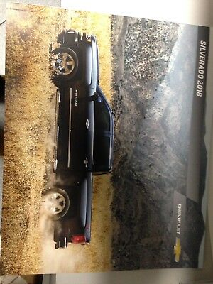2018 CHEVROLET Silverado  DEALER SHOWROOM BROCHURE NEW