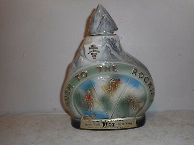 Jim Beam 1970 Rush to the Rockies  Rocky Mountain Whiskey Decanter