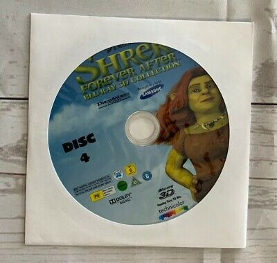 New Shrek Forever After 3d  Blu Ray  Disc 4 Only in paper sleeve