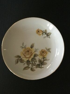"Norleans Talisman 7 5/8"" Coupe Soup Bowl Japan Yellow Rose"