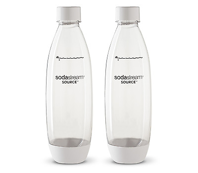 NEW SodaStream Fuse for Carbonating Bottles 1L Twin Pack White 1741210610