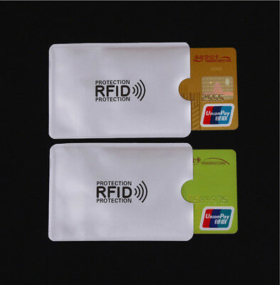 10pcs RFID Secure Sleeves Credit Card Holder Blocking Protector Case Shield