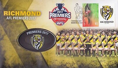 Australia - 2017 - Richmond AFL Premiers Medallion PNC/FDC - Limited Ed. 2017