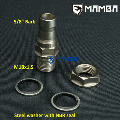 10AN Male Mild Steel Weld On Bung Turbo Oil Pan Drain Cooler Turbo Fitting