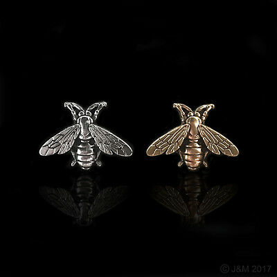 Small Bee (Gold or Silver) Pin Brooch Wedding/Bridal/Crafts  W: 27mm, H: 20mm