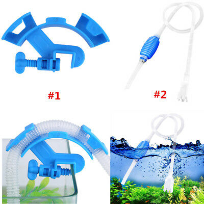 Water Changing Fitting Hose Holder Aquarium Fish tank Filtration+Cleaner Pump