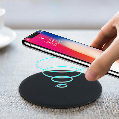 Slim Qi Wireless Fast Charger Charging Pad for Samsung S7 S8 iPhone 8 Plus X -AU