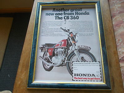 Honda CB360 : frame does not come with it- it is just there for display purposes