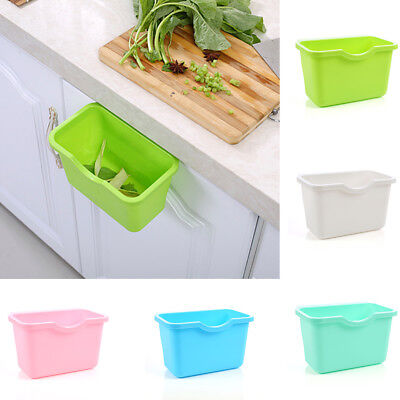 Kitchen Cabinet Door Hanging Basket Trash Garbage Bin Can Rubbish Container HOT