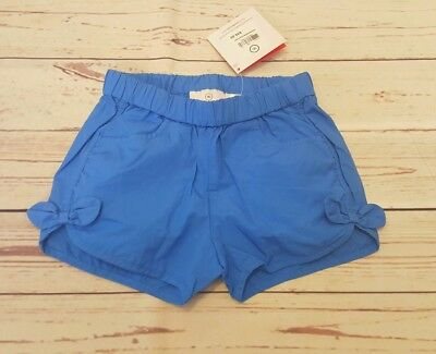 HANNA ANDERSSON Blue Girl's Shorts w/ side pockets and bows. New with tags