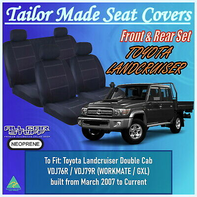 Waterproof Neoprene Seat Covers for Toyota Landcruiser 79 Series Double Cab