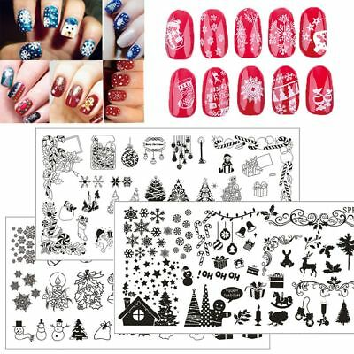 New Nail Art Image Halloween Christmas Stainless Steel Stamping