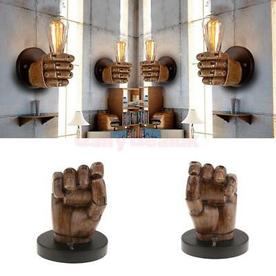 Vintage Fist Resin Wall Lights Aisle/Balcony lighting Retro Sconce Lamp Home Art