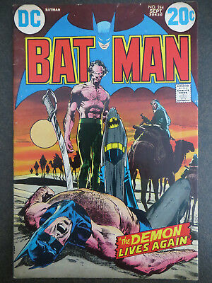 Batman #244 Ra's al Ghul Neal Adams Iconic Cover Art 1972 Talia Robin Bronze Age