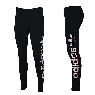 adidas ORIGINALS LOGO HOSE LEGGINGS SPORTHOSE JOGGING RUNNING [ 128 - 170 ] NEU