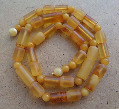 Genuine Natural  Baltic Vintage Amber EGG YOLK Necklace 21 g.