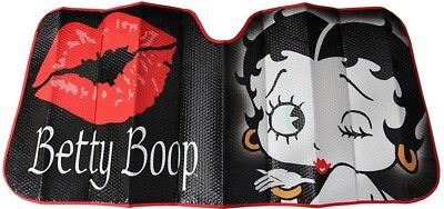 Betty Boop Sunshade Black Fold Windshield Sunlight Protection Vehicle Interior
