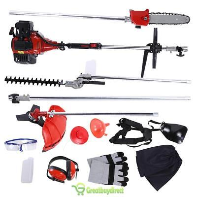 Garden Hedge Trimmer 5 in 1 Petrol Strimmer Chainsaw Brushcutter Tool Set UK