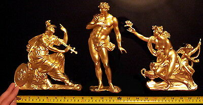 French Antique Louis Xiv Gold Gilt Dore Resin Wall Door Moulding Decoration
