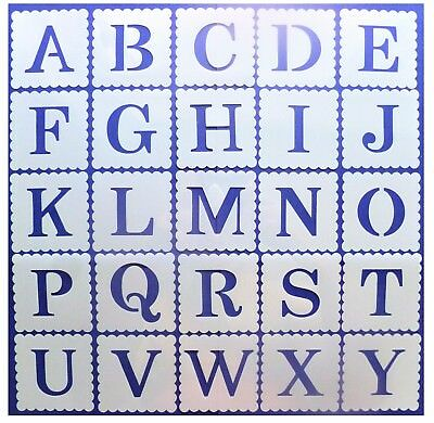 ALPHABET LETTERS & NUMBER STENCILS 38mm 3.8cm Tall - Buy Individually or a Set