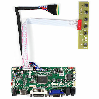 HDMI DVI VGA Audio driver board work for 17.3inch 1600x900 40pin lvds lcd panel