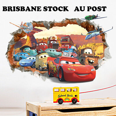 Disney Pixar Cars Lightning McQueen Mater Wall decal Removable sticker decor kid