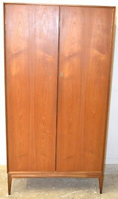 Vintage/Mid Century Teak Gentlemans Wardrobe by Mcintosh - 2766