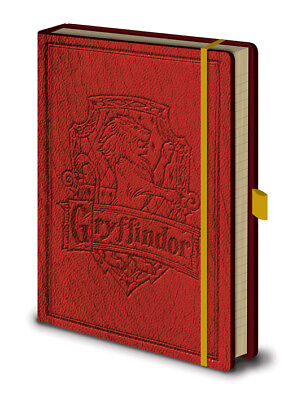 Harry Potter Gryffindor Premium A5 Notebook Hardbacked Embossed Spell Wizard