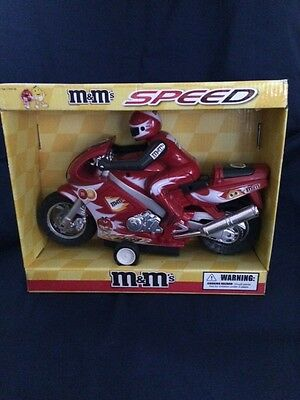 M & M Super Race Motorcycle Toy (Friction Powered).  New and in orignal box